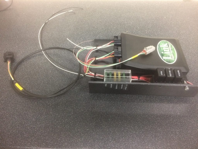 Link Fury aftermarket ECU with custom mounting board, fuses and relays.