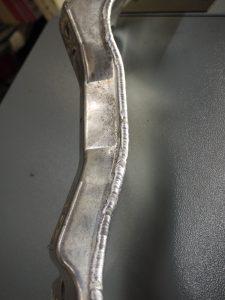Reinforced gear box mount, aluminium tig welded 4mm alloy plate